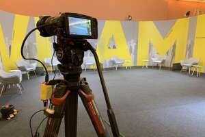 Videocamera at livestream studio